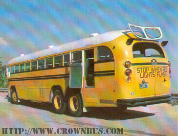 A view of a Crown Supercoach with all of its emergency exits open.