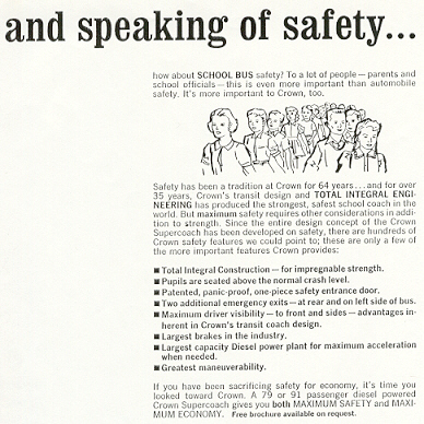 """and speaking of safety . . ."""